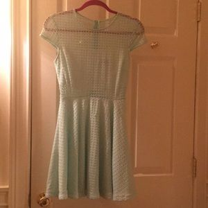 A mint green dress
